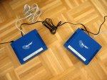 VDSL2-Modems ALL126AM2 und AS2 an der kurzen Telefonleitung zum Test.